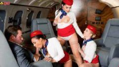 Valentina Nappi, 3 Stewardesses taken on the plane