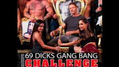 Gang Bang Challenge Malena & Martina Roccos 69 Dicks